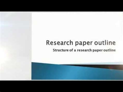How to write a research paper in an hour result